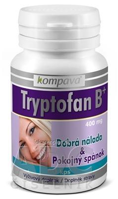kompava TRYPTOFAN B+ cps 400 mg (Dobrá nálada a spánok) 1x60 ks