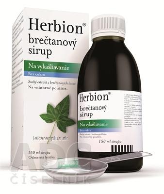 Herbion brečtanový sirup sir (fľ.skl.hnedá) 1x150 ml