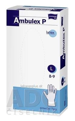 Ambulex P rukavice LATEXOVÉ, potiahnuté polymérom veľ. L, nesterilné, nepúdrované 1x100 ks