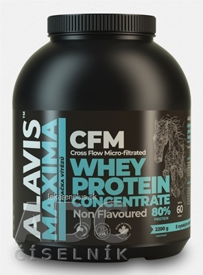 ALAVIS MAXIMA Srvátkový proteínový koncentrát 80% prášok 1x2200 g