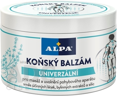 ALPA KONSKÝ BALZAM Univerzálny masážny 1x250 ml