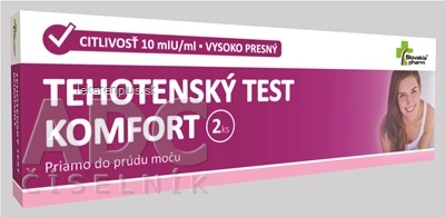 Slovakiapharm TEHOTENSKÝ TEST KOMFORT 1x2 ks
