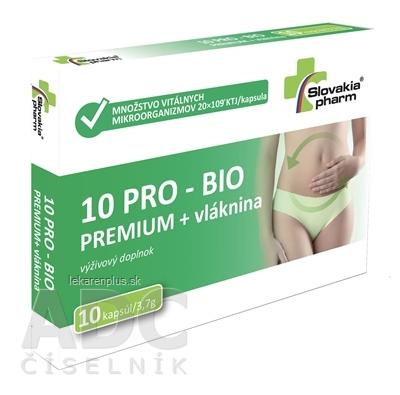 Slovakiapharm 10 PRO - BIO PREMIUM + vláknina cps 1x10 ks
