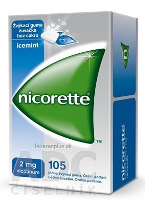 Nicorette Icemint Gum 2 mg gum med (blis.PVC/PVDC/Al) 1x105 ks