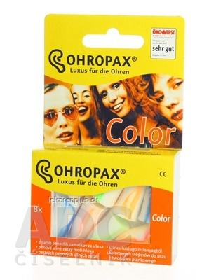 OHROPAX COLOR Ušné vložky v plastovom obale 1x8 ks