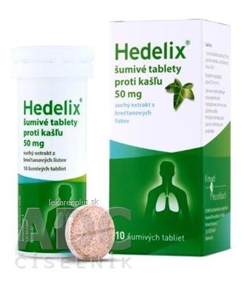 Hedelix šumivé tablety proti kašľu tbl eff (tuba PP) 1x10 ks