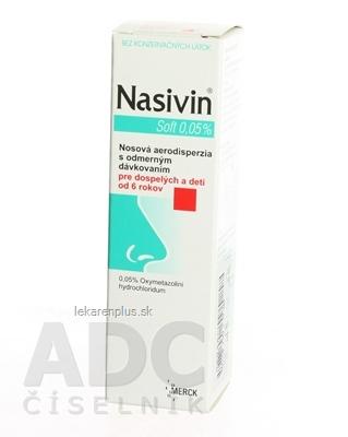 NASIVIN SOFT 0,05 % aer nao (dávkovač 3K systém) 1x10 ml