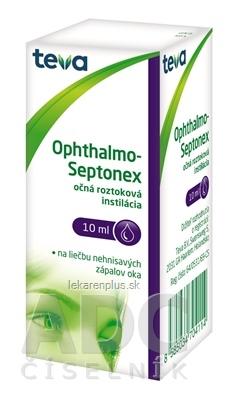 OPHTHALMO-SEPTONEX int opo (fľ.plast.biela+kvapkadlo) 1x10 ml