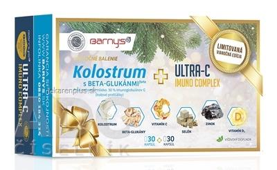 Barnys KOLOSTRUM s beta-glukánmi + ULTRA-C IMUNO cps (Vianoce) 2x30 (60 ks)