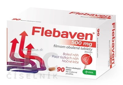 Flebaven 500 mg filmom obalené tablety tbl flm (blis.PVC/PVDC/Al) 1x90 ks