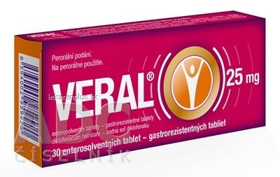 VERAL 25 mg tbl ent (blis. Al/PVC) 1x30 ks
