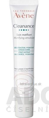 AVENE CLEANANCE EMULSION (Soin matifiant) zmatňujúca emulzia, mastná pleť (inov. 2020) 1x40 ml