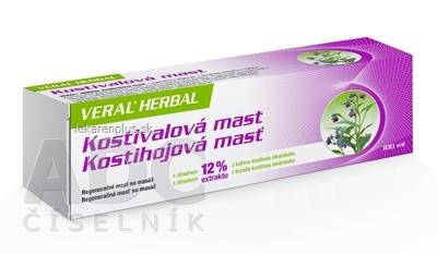 HERBACOS VERAL HERBAL kostihojová masť 1x100 ml