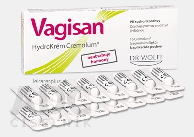 Vagisan HydroKrém Cremolum vaginálne čapíky 1x16 ks