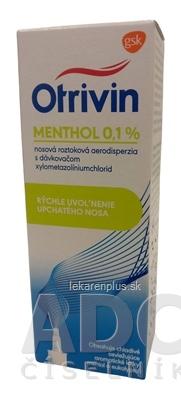 Otrivin Menthol 0,1% aer nao (fľ.HDPE s dávkovačom) 1x10 ml