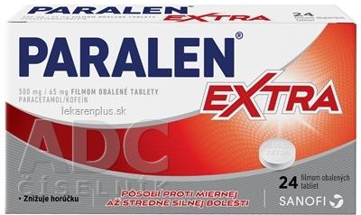 PARALEN EXTRA tbl flm 500 mg/65 mg (blis. Al/PVC) 1x24 ks