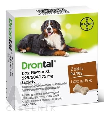 Drontal Dog Flavour XL 525/504/175 mg tablety tbl 1x2 ks