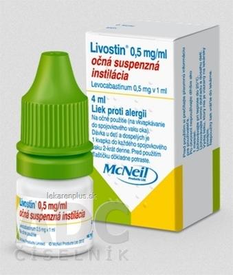Livostin 0,5 mg/ ml int opu 1x4 ml