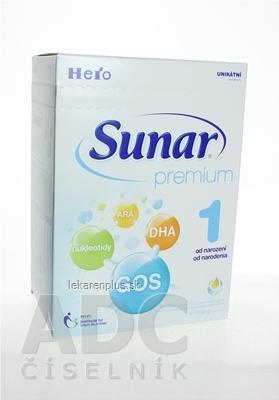 Sunar Premium 1 mliečna výživa dojčiat (od narodenia) inov.2015, 1x600 g