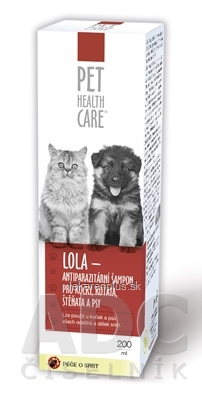 PET HEALTH CARE LOLA antiparazitárny šampón 1x200 ml