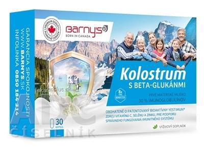 Barnys KOLOSTRUM s beta-glukánmi + darček cps 1x30 ks + darček 1ks, 1x1 set