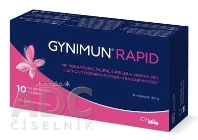 GYNIMUN RAPID vaginálne čapíky 1x10 ks