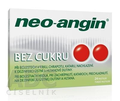 Neo-angin bez cukru tvrdé pastilky pas ord (blis.PVC/PVDC/Al) 1x24 ks