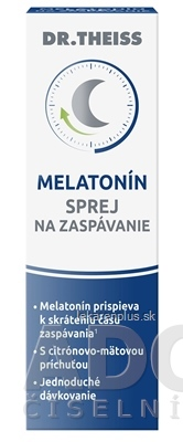 Dr.Theiss MELATONÍN SPREJ na zaspávanie s citrónovo-mätovou príchuťou 1x30 ml