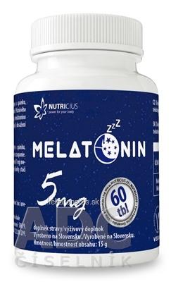 NUTRICIUS Melatonín 5 mg tbl 1x60 ks
