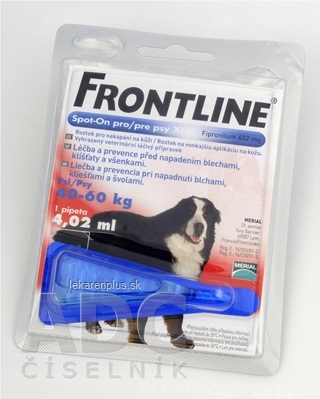 FRONTLINE Spot-on pre psy XL sol (na kožu, pipeta, psy 40-60 kg) 1x4,02 ml