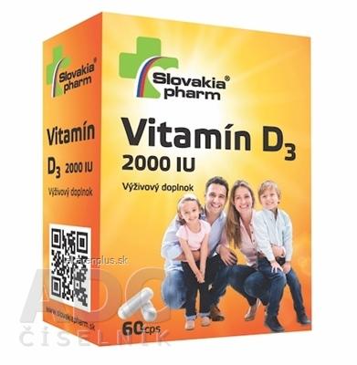 Slovakiapharm Vitamín D3 2000 IU cps 1x60 ks