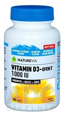 SWISS NATUREVIA VITAMIN D3-EFEKT 1000 I.U. tbl 1x90 ks