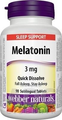 Webber Naturals Melatonin 3 mg tablety pod jazyk, rozpustné 1x90 ks