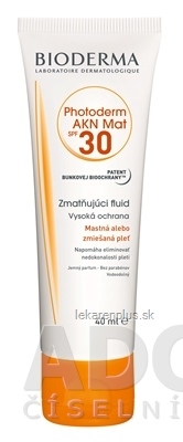 BIODERMA Photoderm AKN MAT SPF 30 (V2) fluid (inov.2020) 1x40 ml