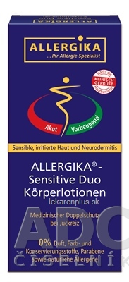 ALLERGIKA SENSITIVE DUO (Lipolotio Sensitive 200 ml + Hydrolotio Sensitive 200 ml), 1x1 set
