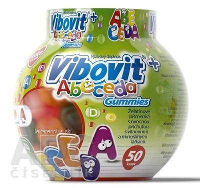 VIBOVIT+ ABECEDA Gummies želé s ovocnou príchuťou (inov.2018) 1x50 ks