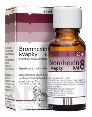 BROMHEXIN 8-KVAPKY KM sol por (liek.skl.hnedá) 1x20 ml