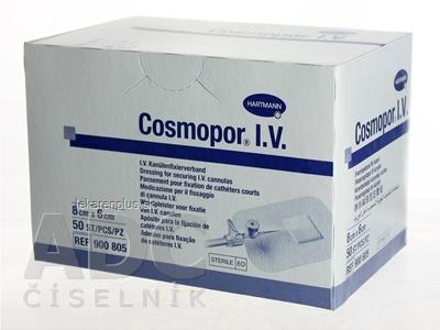 COSMOPOR I.V. obväz na fixáciu kanýl sterilný (6x8cm) 1x50 ks