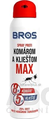 BROS spray proti komárom a kliešťom MAX 1x90 ml