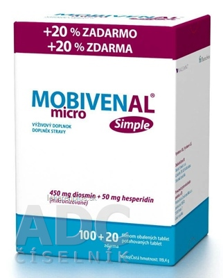 MOBIVENAL micro Simple tbl flm 100+20 zadarmo (120 ks)