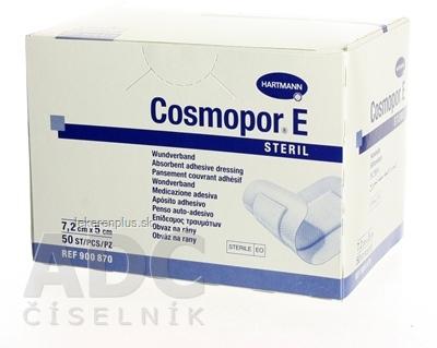 COSMOPOR E STERIL obväz na rany sterilný (7,2 x 5 cm) 1x50 ks
