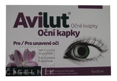 AVILUT Očné kvapky 10x0,5 ml