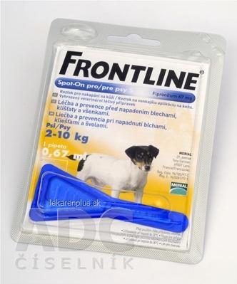 FRONTLINE Spot-on pre psy S sol (na kožu, pipeta, psy 2-10 kg) 1x0,67 ml