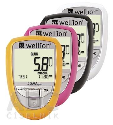 Wellion LUNA Duo s príslušenstvom merací systém na meranie glukózy a cholesterolu, 1x1 set