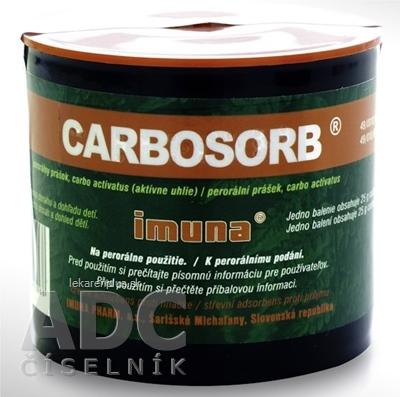 CARBOSORB plv por (vrecko PE) 1x25 g