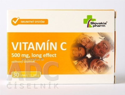 Slovakiapharm VITAMÍN C 500 mg long effect tbl 1x30 ks