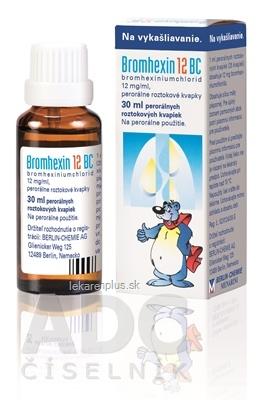 Bromhexin 12 BC gto por (fľ.skl.hnedá) 1x30 ml