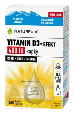 SWISS NATUREVIA VITAMÍN D3-EFEKT 400 I.U. kvapky 1x10,8 ml