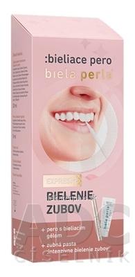 Biela perla Bieliace pero (pero s bieliacim gélom 8 ml + zubná pasta 30 ml) 1x1 set