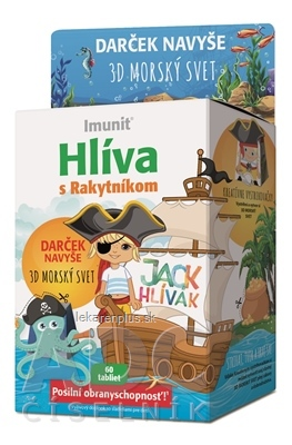 HLIVA s Rakytníkom Imunit JACK HLIVÁK tbl pre deti 60 ks + Darček 3D morský svet, 1x1 set